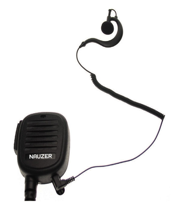 Nauzer MIA120-S. High quality microphone-loudspeaker with large PTT button. For MIDLAND handhelds