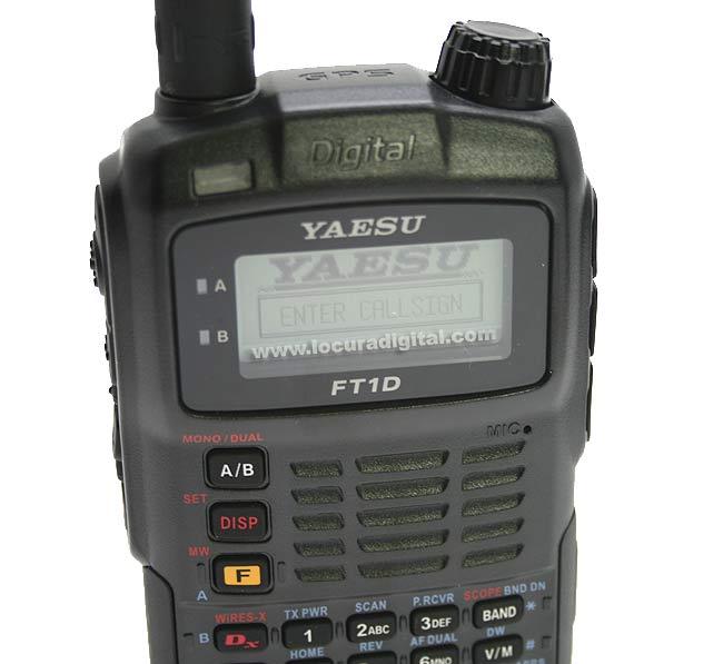 yaesu ft1dr bibanda 144/430mhz con gps