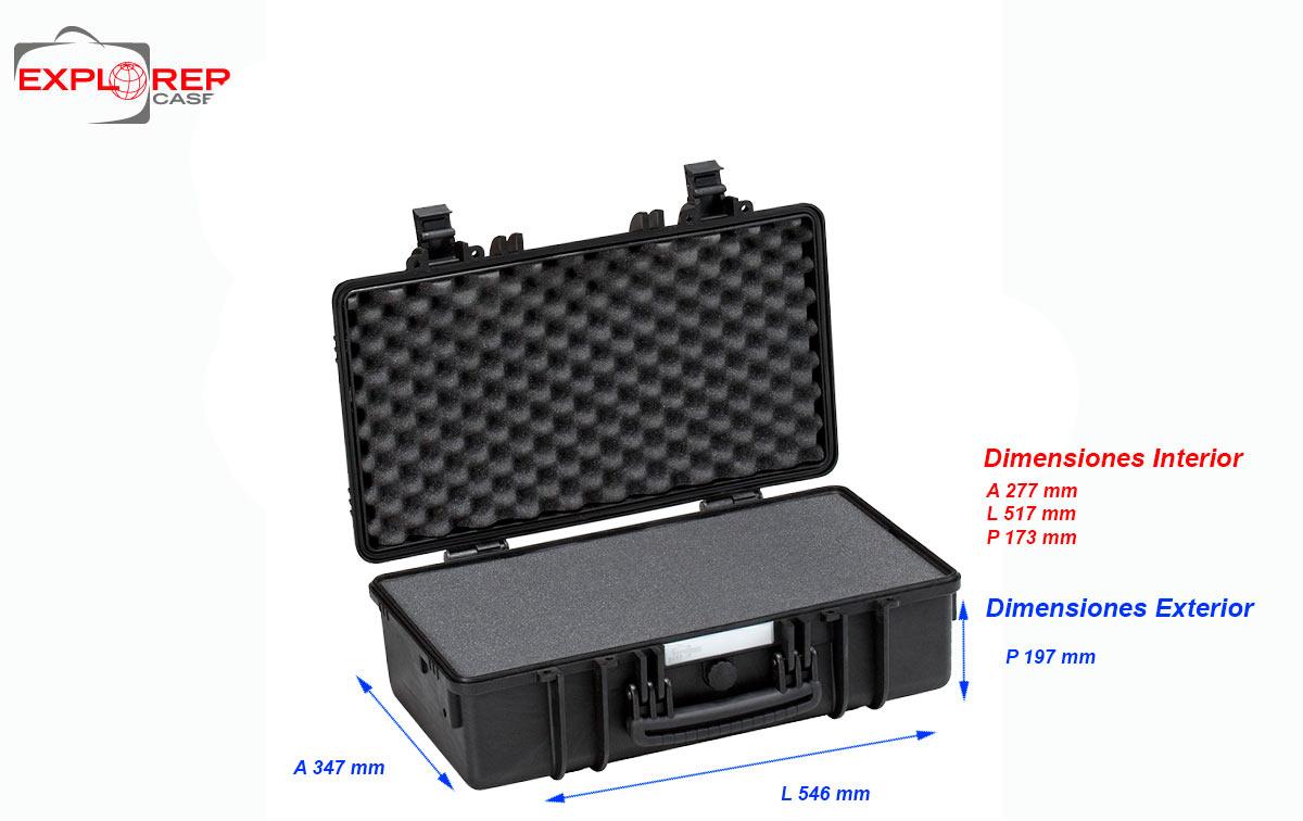 4822B Maleta Explorer color negro espuma Interior L 480 x A 370 x P 205