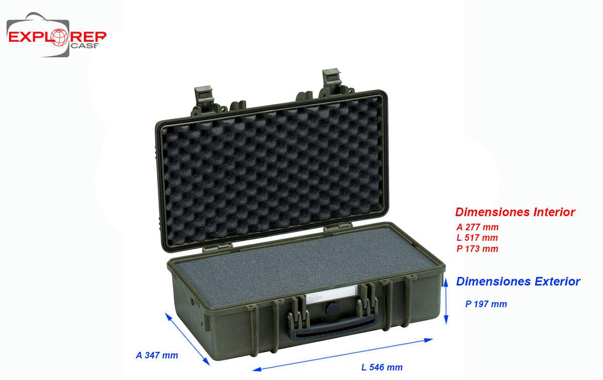 5117-b maleta explorer color negro con espuma interior l 517 x a 277 x p 173 mm