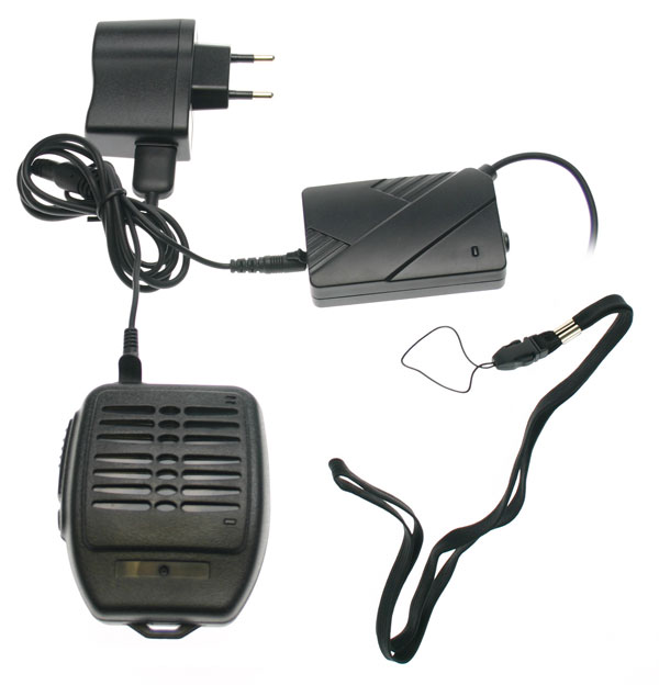 Nauzer MIA200-S. High quality wireless (2,4GHz) microphone-loudspeaker with large PTT button. For MIDLAND handhelds