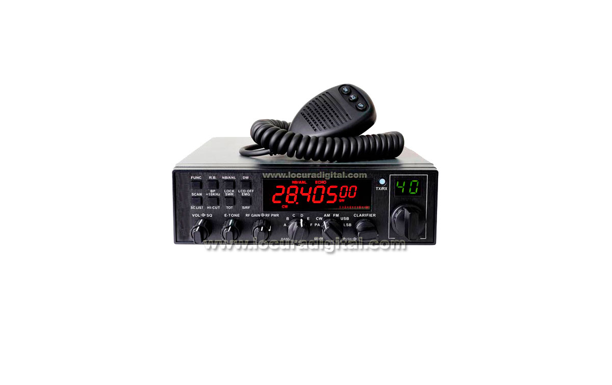 ANYTONE AT-5555 HF  28-29 MHz  POTENCIA 12 WATIOS AM/ FM. Y BANDAS LATERALES 21 WATIOS