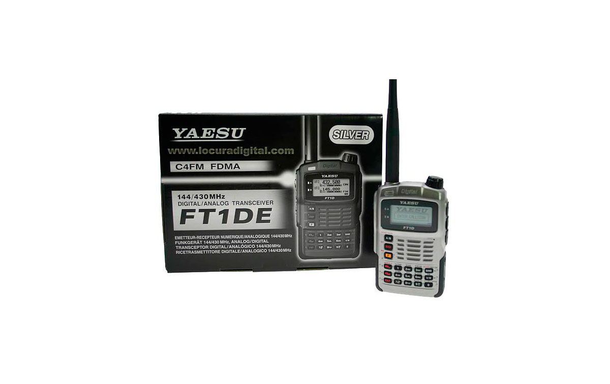 YAESU FT1D bibanda 144/430MHz con GPS. Dual Band Digital receptor digitales Radio Amateur. Color Plata