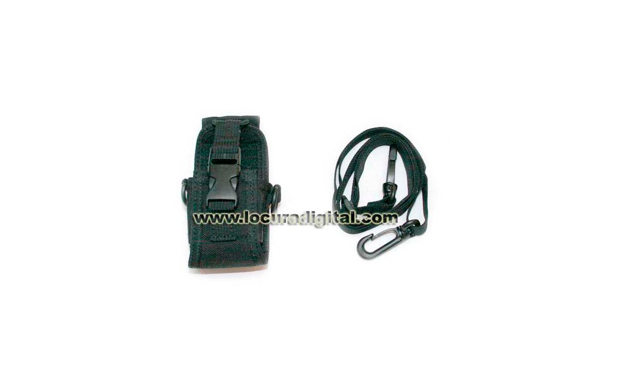 MY111 Funda Universal con bandolera de alta calidad para walkies varios.
