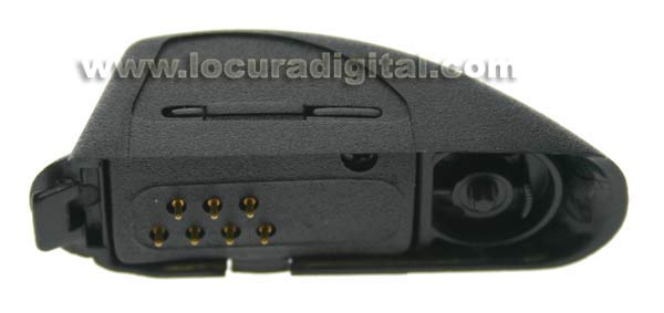 "Nauzer REC-NA9716. Motorola converter for GP320, GP340, GP360, GP380... to convert ""M4"" connection type to ""M"" 2 pins Motorola connector."