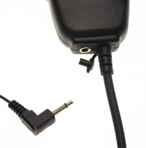 Nauzer MIA115-IC. High quality microphone-loudspeaker with large PTT button. For ICOM handhelds