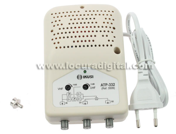 Atp332 ikusi amplificador tv interior 2 salidas vhf 14 db - Amplificador tv interior ...