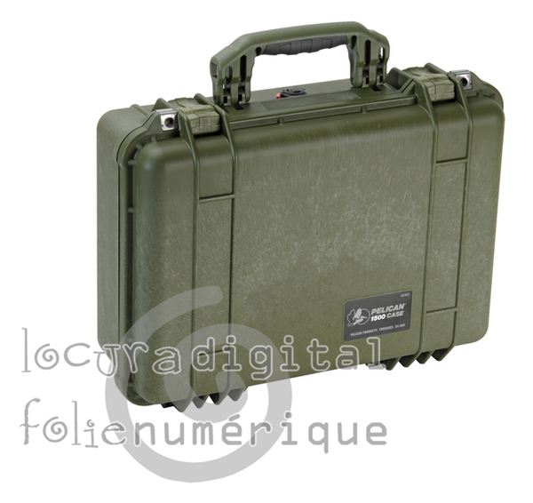 1500000130 Hunter Green Protective Case with foam.