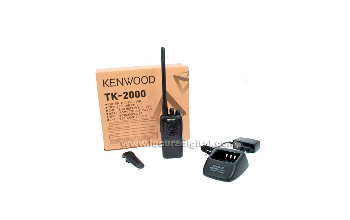 TK-2000E KENWOOD Walkie profesional VHF 146-174 Mhz. 16 canales programable.