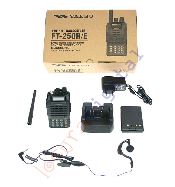 YAESU FT-250E KIT 1.  Monoband Walkie 144 mHz VHF kit contents