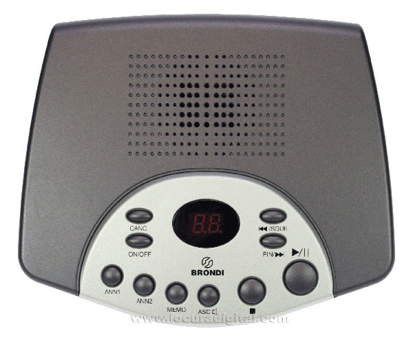 BRONDI SDTOP Digital Answering Machine with Memory