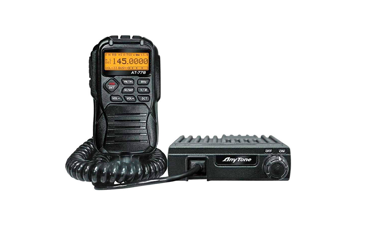 anytone at-778 emisora movil vhf 144-146 mhz potencia 25 watios. transceptor móvil vhf radioaficionado.