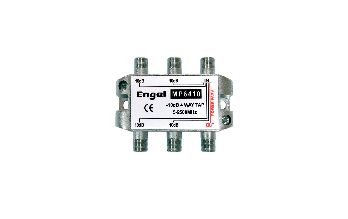 Derivador 4 salidas -10dB (5-2400Mhz)