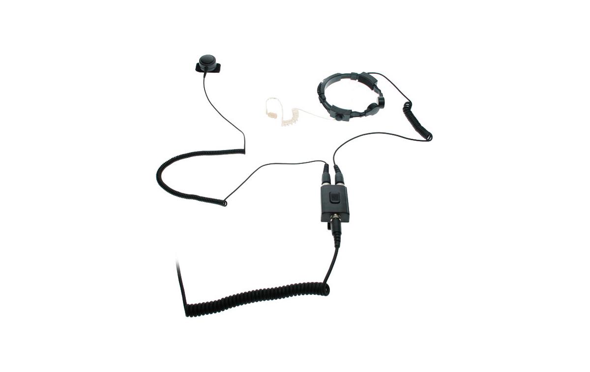 NAUZER PLX220K  Super-laringofono profesional de doble captador para walkies KENWOOD, WOUXUN y PUXIN