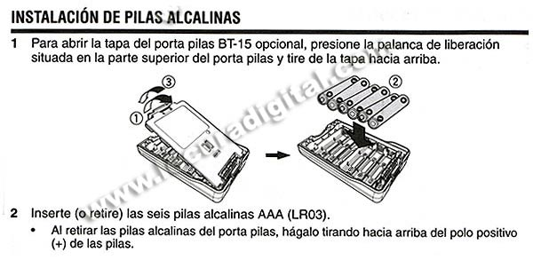 KENWOOD BT-15 Porta pilas para TH- D72E