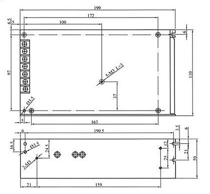 ASI15012 LAFAYETTE Fuente Alimentación Conmutada Industrial 100 W, voltage 12 volts, amperios 12,5 A.