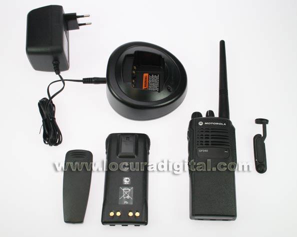 Contenido del kit Motorola GP340