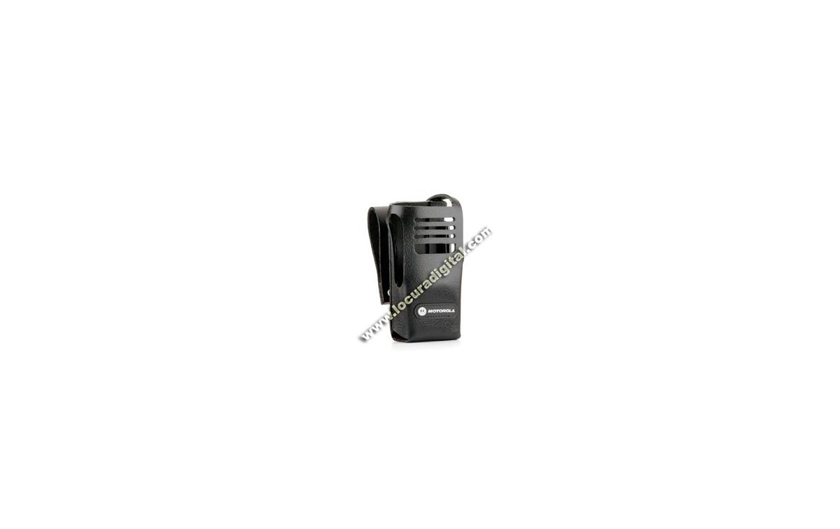 MOTOROLA PMLN5029 Funda cuero dura con lazo cinturón swivel 3'' para Radio sin display