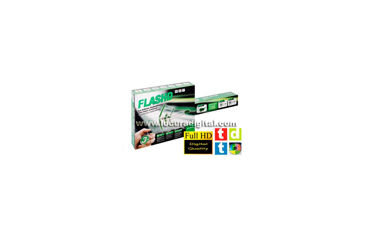 IKUSI FLASHD - Antena para TDT / Full HD / TV Analogica Montaje en 3 SEGUNDOS !!