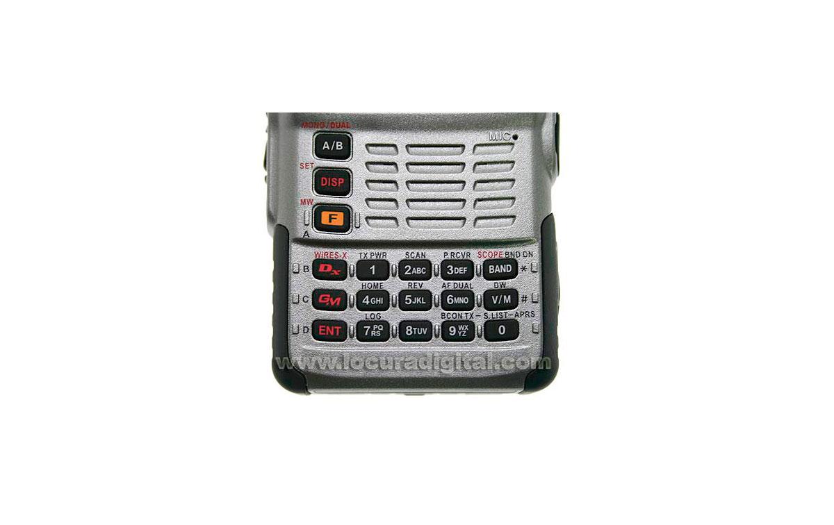YAESU FT1D bibanda 144/430MHz con GPS. Dual Band Digital receptor digitales Radio Amateur. Color Plata