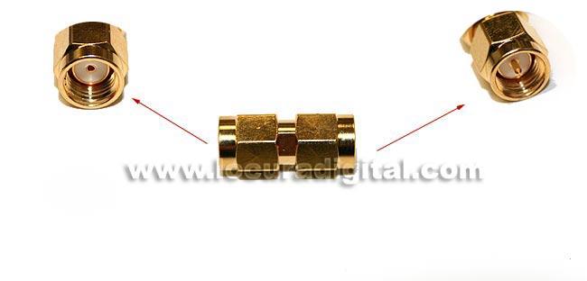 CON3912 Adaptateur SMA MALE MALE SMA inverse standard