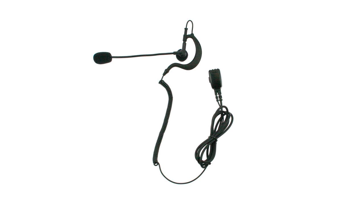 PIN49777 NAUZER Micro-Auricular Orejera tipo pertiga, con sistema PTT incorporado.