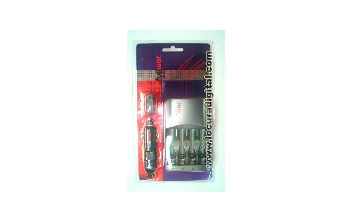 FUC004. Cargador rápido de pilas recargables tipo R03 AAA y R6 AA. Alimentación: 220 volts. y 12 vol