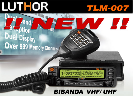 LUTHOR TLM-007 Dual Band Transceiver VHF / UHF 144 / 430 MHz.