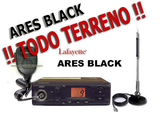 LAFAYETTE ARES BLACK EMISORA CB 27 MHZ COLOR NEGRO