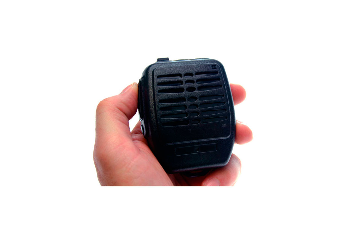 Nauzer MIA200-Y2. High quality wireless (2,4GHz) microphone-loudspeaker with large PTT button. For YAESU VERTEX handhelds