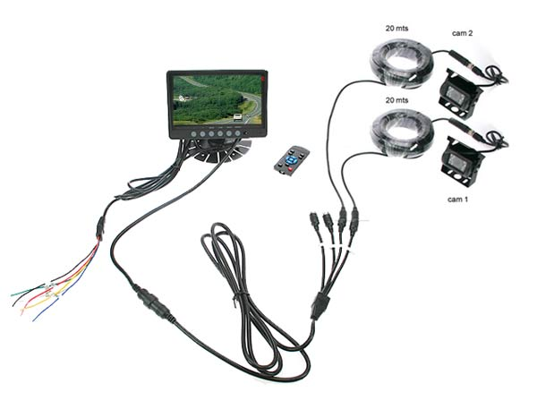 BARRISTER BRV9 KIT2 KIT2 CAR REVERSE CAMERA 2 CAMERA
