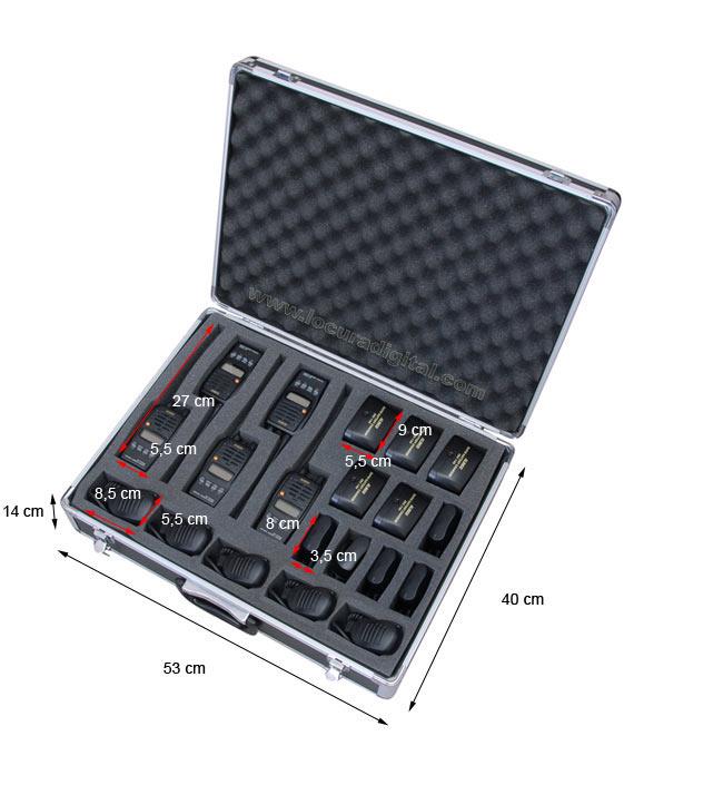 aluminium case tlcase10 luthor black for 10 units luthor walkies