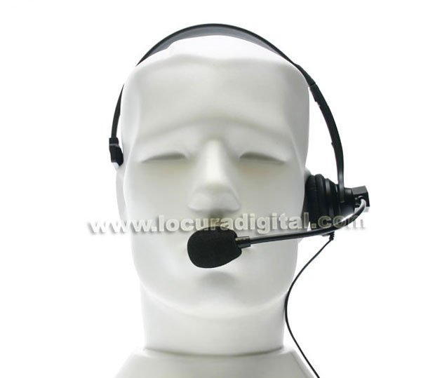 Nauzer HEL770-K. High quality headset with PTT and VOX system. For KENWOOD, LUTHOR, PUXING and WOUXUN handhelds