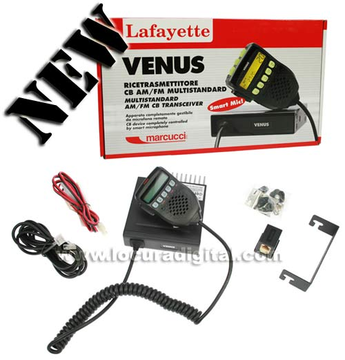 LAFAYETTE VENUS CB 27 Mhz transceiver AM / FM. Transceiver with subtones.