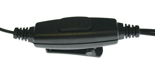 PIN MAT-T5.  Micro-Auricular  tubular con DOBLE PTT especial para ambientes ruidos, uso Militar, Seguridad o industrial. Ideal para Vigilancia en Discotecas, conciertos, etc....
