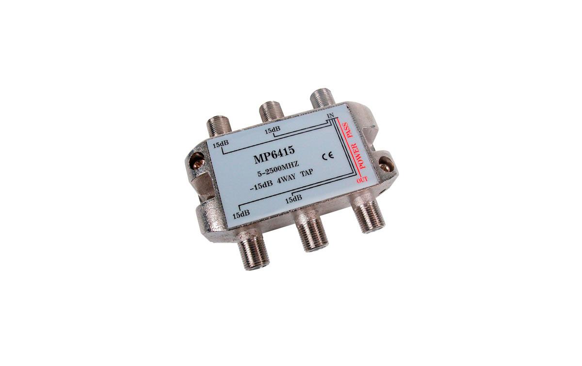 Derivador 4 salidas -15dB (5-2400Mhz)