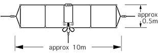 WD330S Doble dipolo DIAMOND de 2-28.6 Mhz