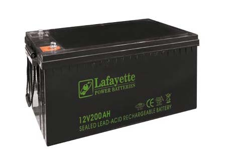 SW-122 000 Lafayette RECHARGEABLE LEAD BATTERY VOLTAGE 12V Power. 200 amp capacity. Terminal: T11 and T19