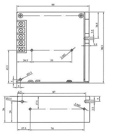 asi 2512 lafayette fuente alimentación conmutada industrial 25 w, voltage 12 volts, amperios 2