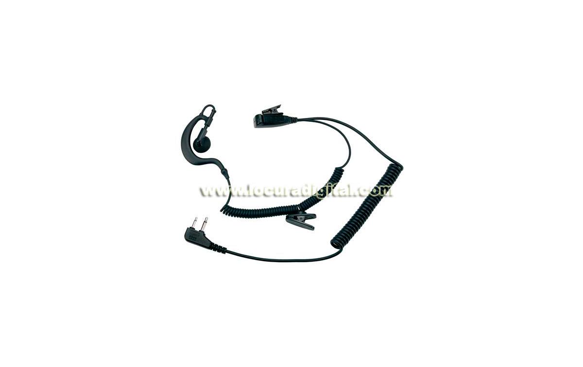 MIDLAND A21M Micro auricular con orejera y PTT profesional