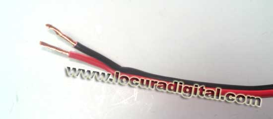 Cable PABICO400 parallel red-black bicolor 2 x 4 mm.
