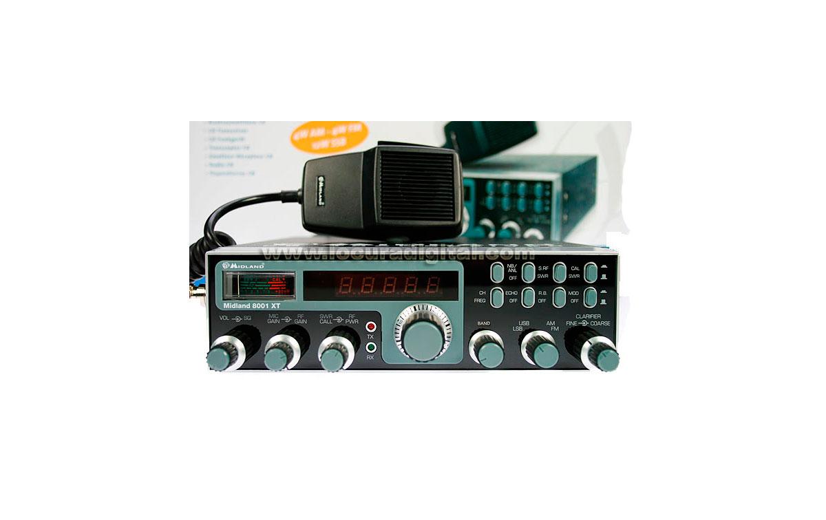 ALAN-MIDLAND 8001 XT. Emisora CB banda lateral  AM/FM / SSB  !! NUEVO MODELO !!