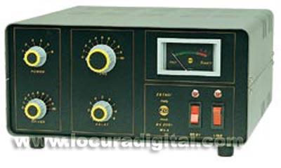 ZETAGI BV-2001 ada 10 w. 20 w,  SSB / Salida 600 w. AM-FM / 800 -1000 w. SSB