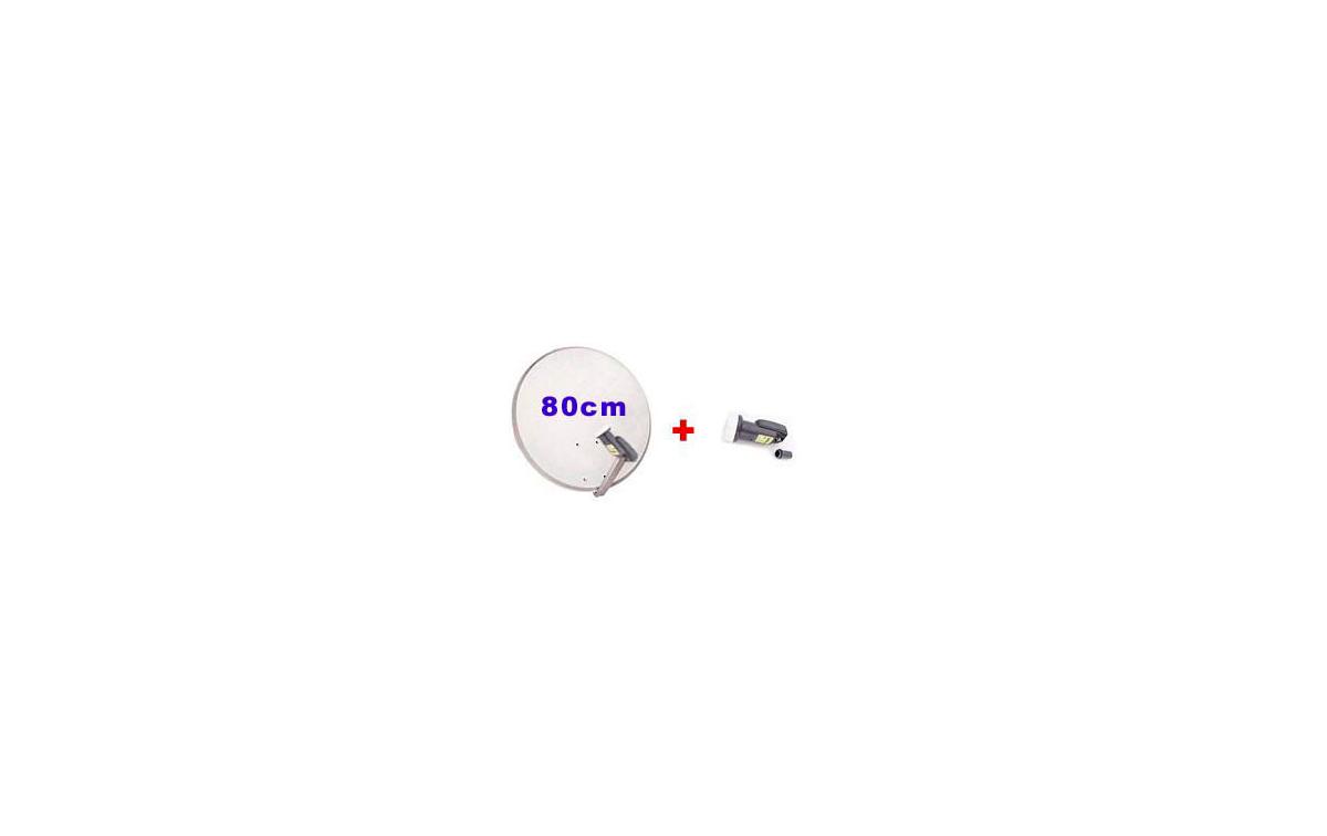 PARABOLICA PA 80S.Parabolica de 80 cm + LNB UNIVERSAL
