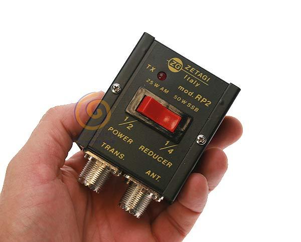 RP2ZETAGI Reductor de potencia a la mitad 1/2 y 1/4 de 0 - 30 Mhz. 25 w
