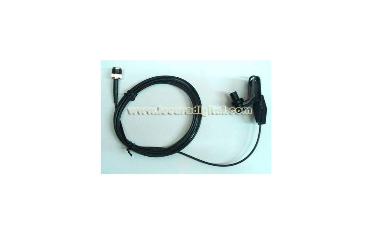 MB-WCM Soporte para cristal para antenas de walkie con conector BNC