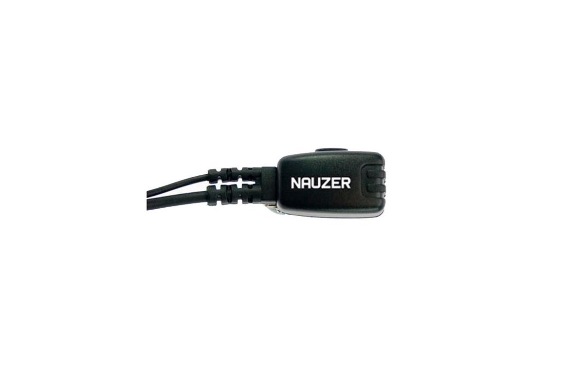 PIN49M NAUZER Micro Auricular Orejera tipo pertiga, con sistema PTT incorporado.
