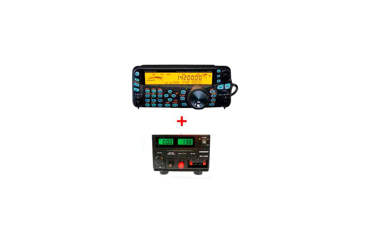TS-480SAT Emisora KENWOOD HF 50 Mhz 1 FUENTE DE ALIMENTACION 25 A. MIRMIDON MPS 3036D