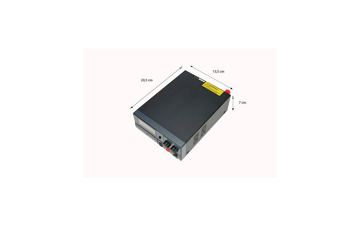 mps2030d mirmidon fuente alimentación conmutada 220volt ac/13,8dc (regulable 9-15 v), 30 amp.