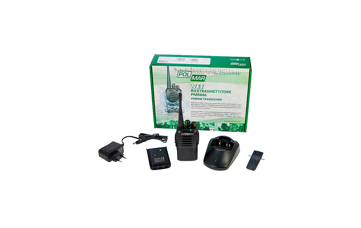 polmar wet walkie talkie de uso libre, no es necesario licencia pmr-446 sumergible ip67